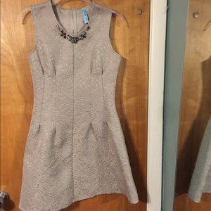 Aina Be taupe embossed dress